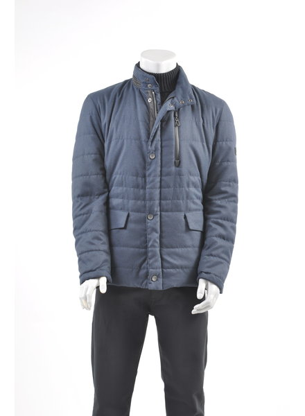 BUGATTI Mid Blue Quilted Casual Coat