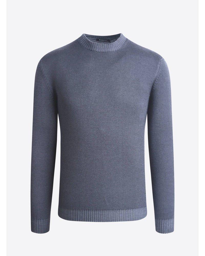 BUGATCHI UOMO Solid Crew Neck Wool Sweater