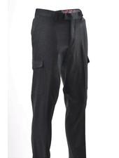 SUITOR Slim Fit Charcoal Cargo Pocket Dress Pant