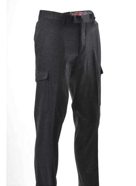 SUITOR Slim Fit Charcoal Cargo Pocket Dress Pant