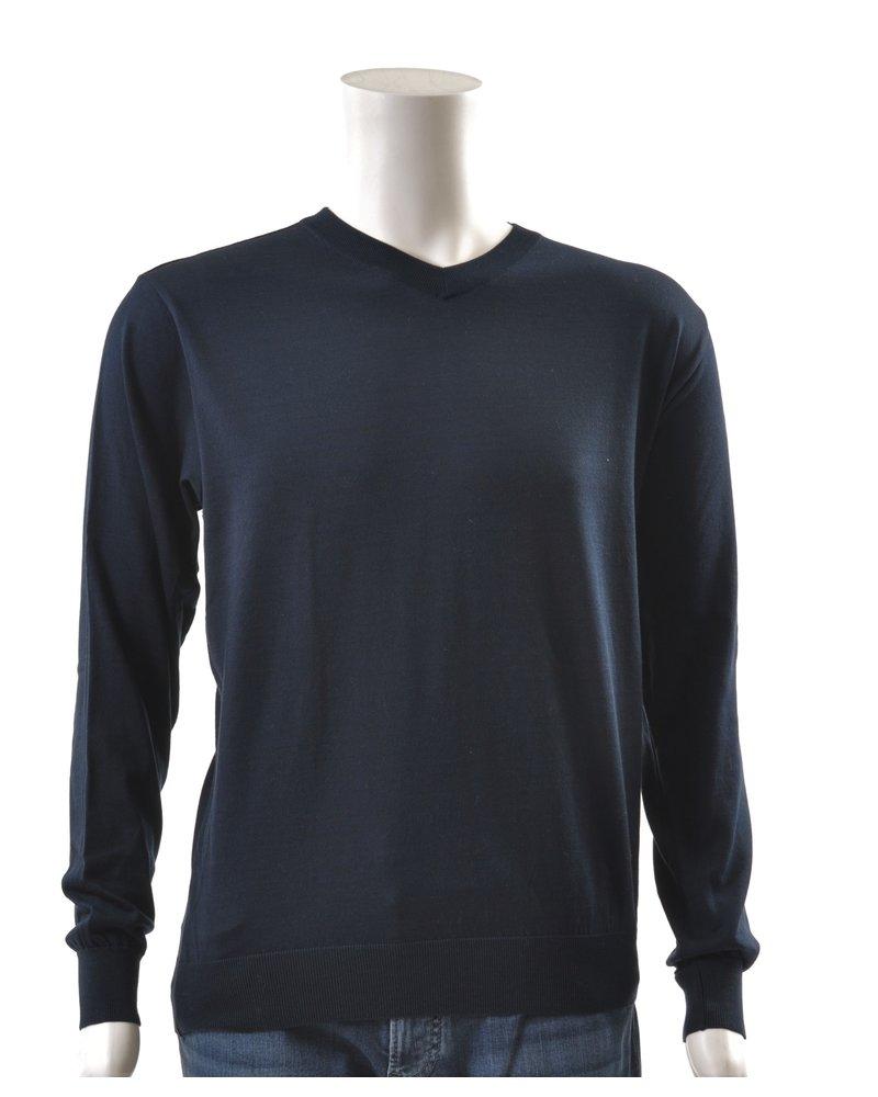 PAUL & SHARK Navy Summer/Winter V Neck Sweater