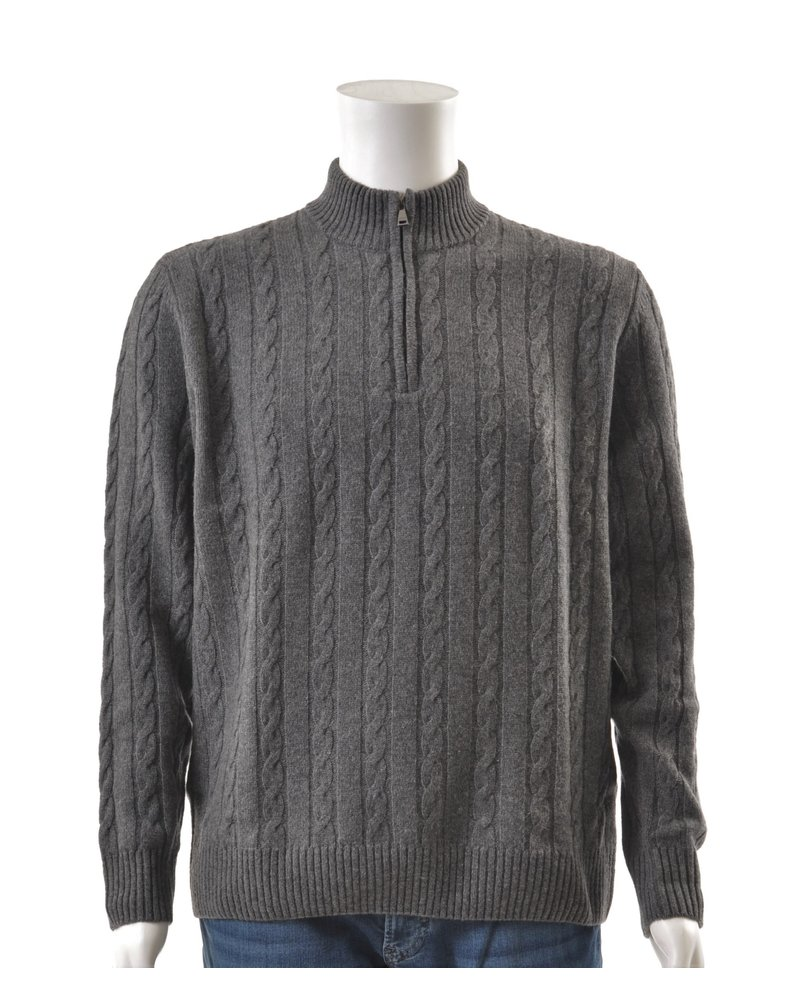 PAUL & SHARK Lambswool Cable Knit 1/4 Zip Sweater