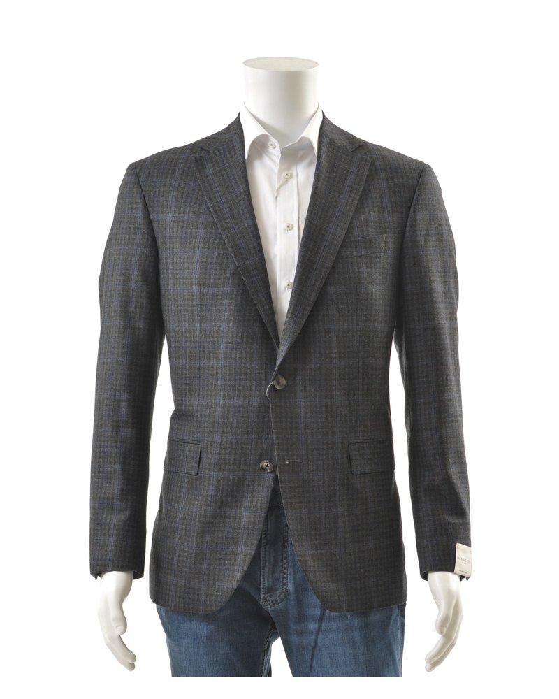 JACK VICTOR Modern Fit Grey & Navy Sport Coat