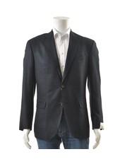 JACK VICTOR Modern Fit Navy Black Sport Coat