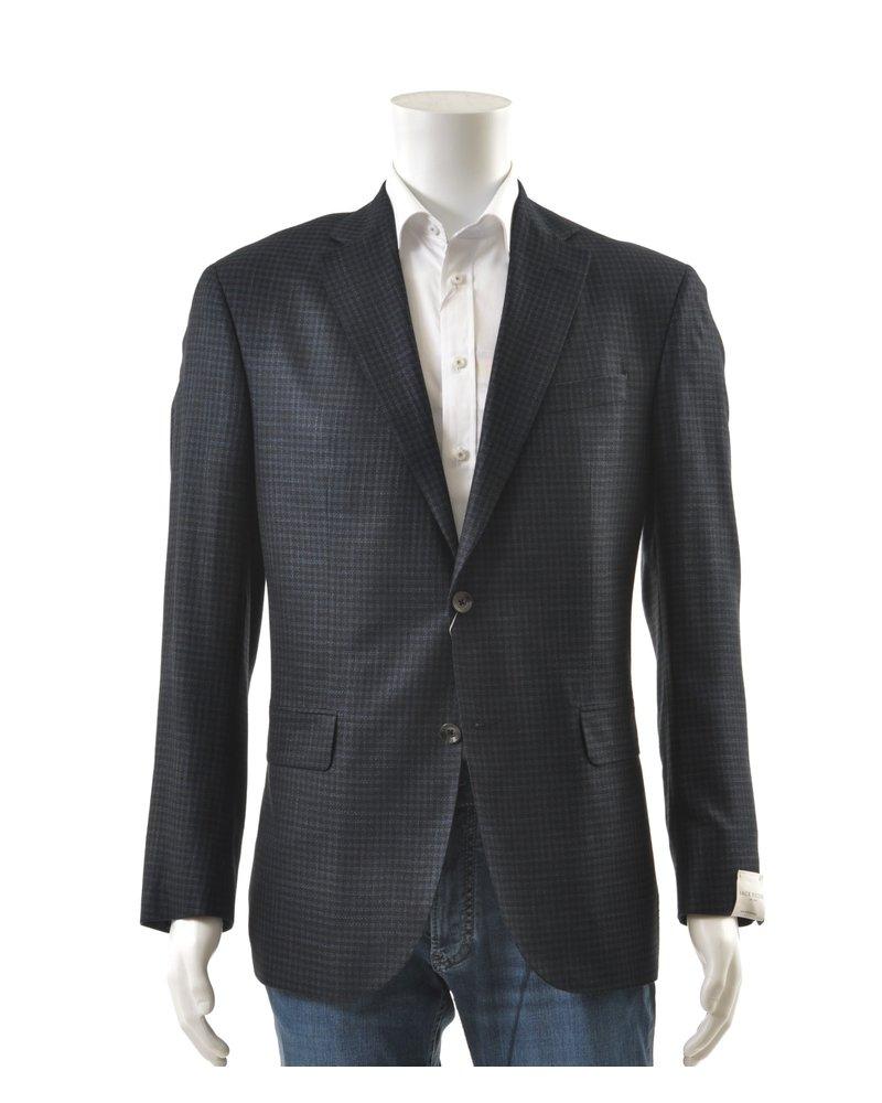 JACK VICTOR Modern Fit Navy Black Sportcoat