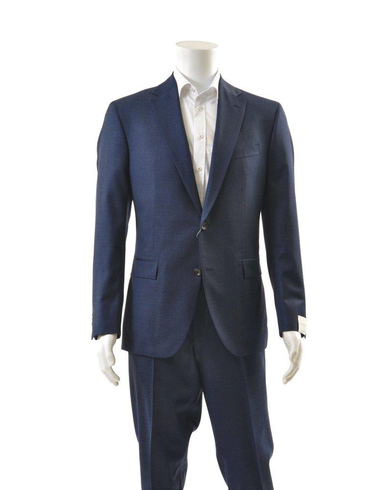 JACK VICTOR Moodern Fit Navy Light Flannel Suit
