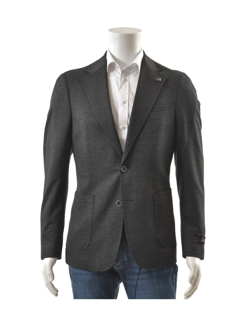SUITOR Slim Fit Charcoal Neat Sportcoat