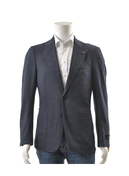 SUITOR Slim Fit Navy Houndstooth Sport Coat