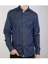7 DOWNIE Modern Fit Floral Denim Shirt