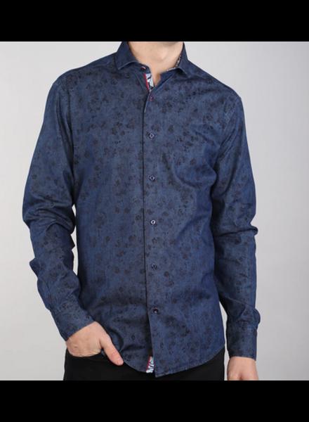7 DOWNIE Floral Denim Shirt