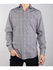 7 DOWNIE Modern Fit Houndstooth Patch Shirt