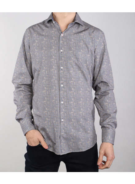 7 DOWNIE Houndstooth Patch Shirt