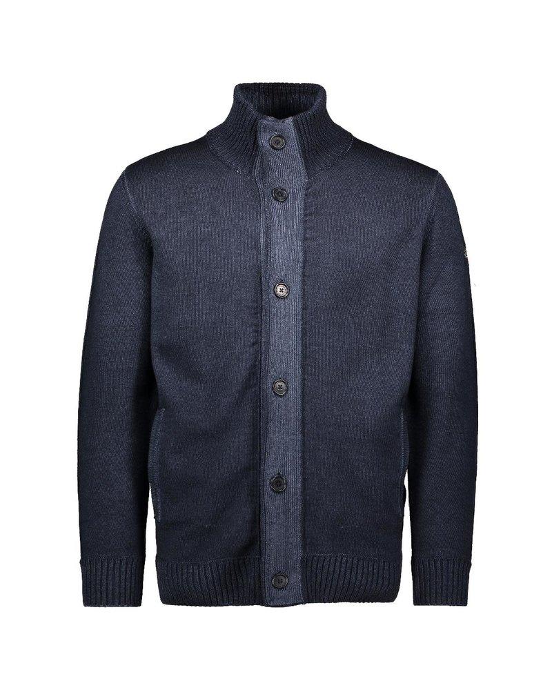 PAUL & SHARK Navy Wool Full Button Sweater