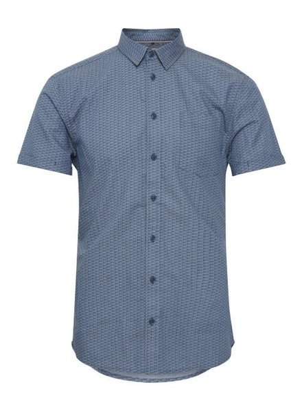 BLEND Slim Fit Blue Neat SS Shirt