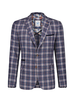 A FISH NAMED FRED Slim Fit Small Blue Orange Check Sport Coat
