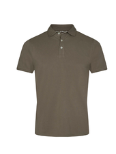 BRUUN & STENGADE Modern Fit Army Green Polo