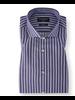 BRUUN & STENGADE Modern Fit Navy White Striped Shirt