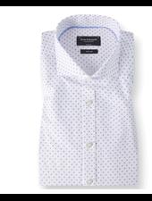 BRUUN & STENGADE Modern Fit White Blue Circle Shirt