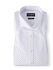 BRUUN & STENGADE Modern Fit White Blue Circle Shirt