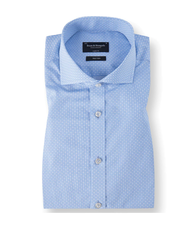 BRUUN & STENGADE Modern Fit Light Blue Circle Pattern Shirt