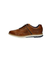 BUGATTI Cognac Perforated Leather Leisure Shoe