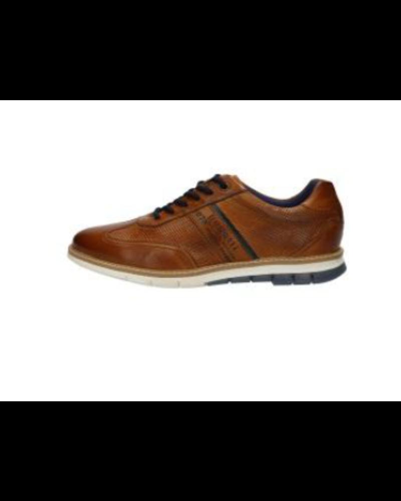 BUGATTI Cognac Perforated Leather Leisure Shoe