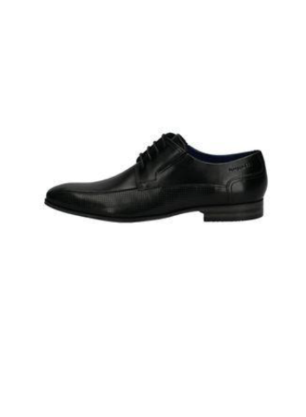 BUGATTI Black Perforated Leather Dress Shoe