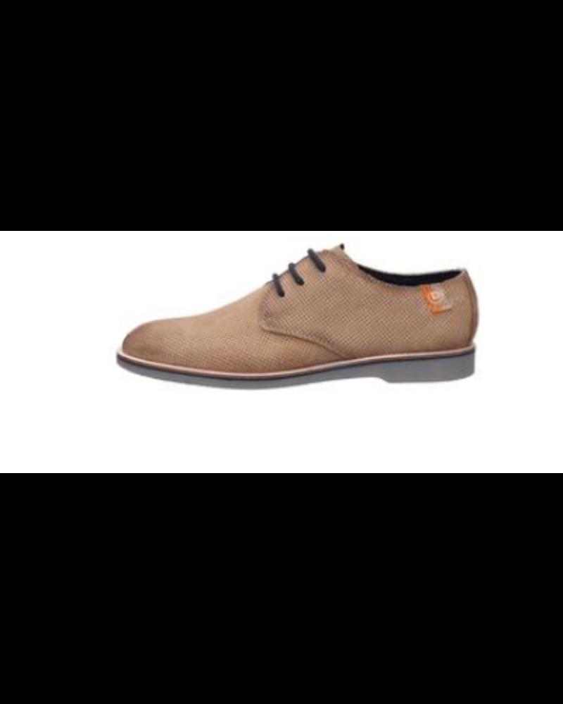 BUGATTI Tan Perforated Nubuck Casual Shoe