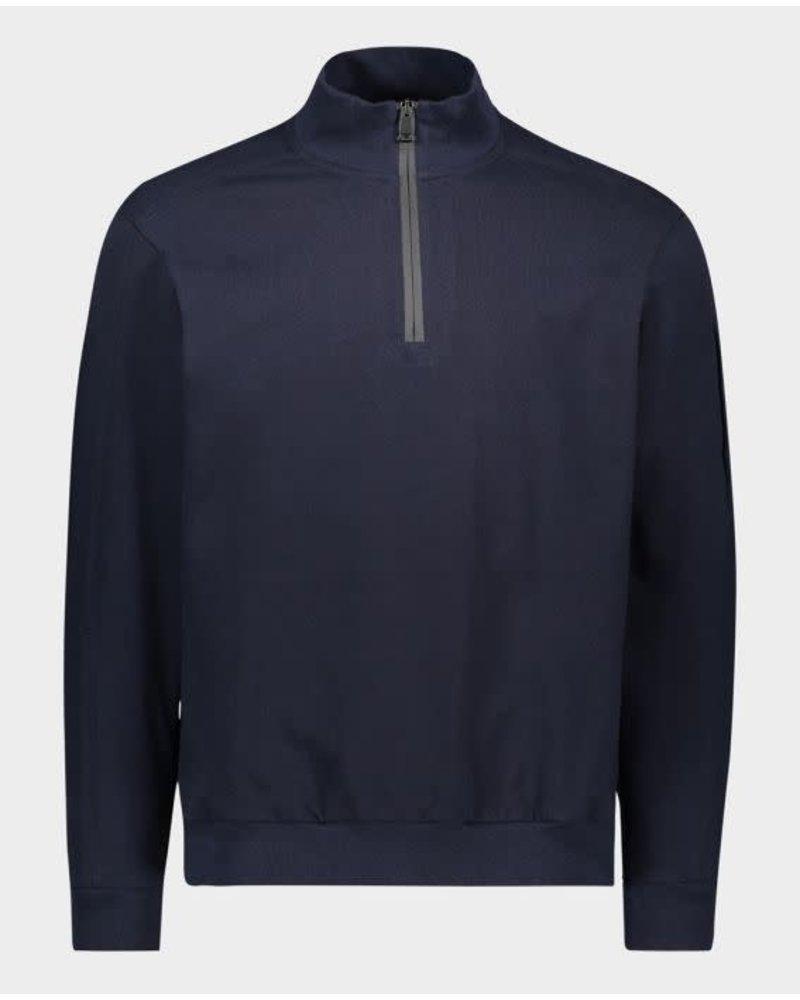 PAUL & SHARK Organic Cotton Navy 1/4 Zip Sweater