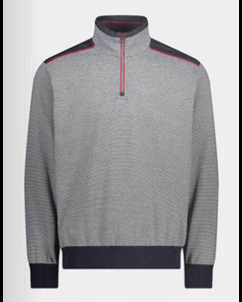 PAUL & SHARK Striped Watershed 1/4 Zip Sweater