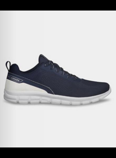 PAUL & SHARK Navy White Nylon Sneakers