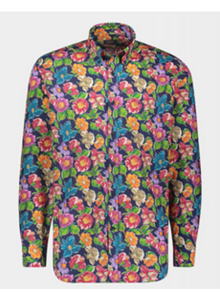 PAUL & SHARK Classic Fit Floral Print Shirt with Mask
