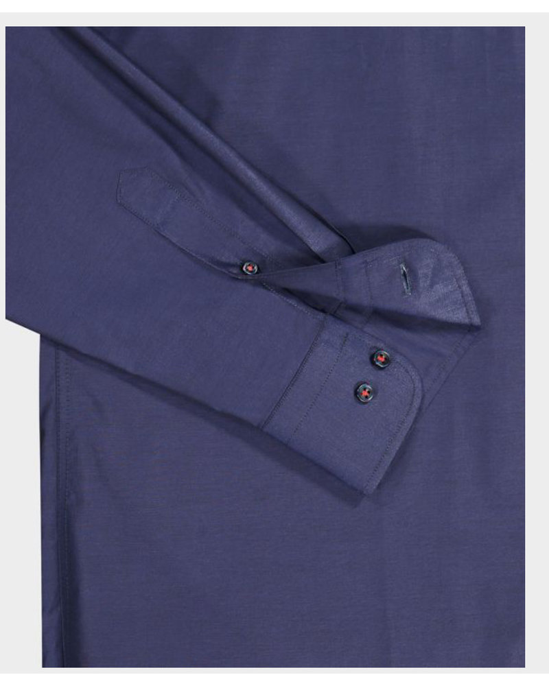 PAUL & SHARK Classic Fit Navy Organic Cotton Shirt with Mask