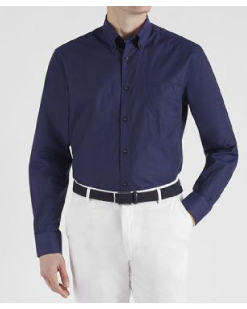 PAUL & SHARK Classic Navy Organic Cotton Shirt with Mask