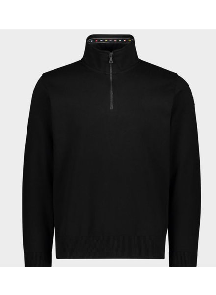 PAUL & SHARK Black Watershed 1/4 Zip Sweater