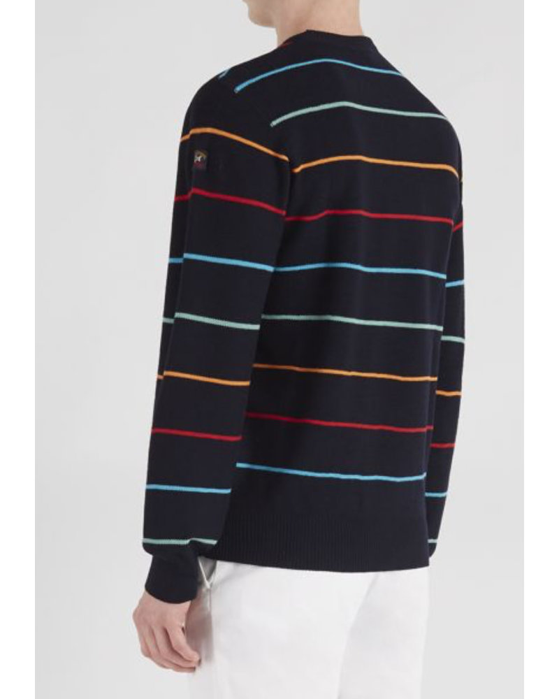 PAUL & SHARK Wool Knit Crewneck Striped Sweater