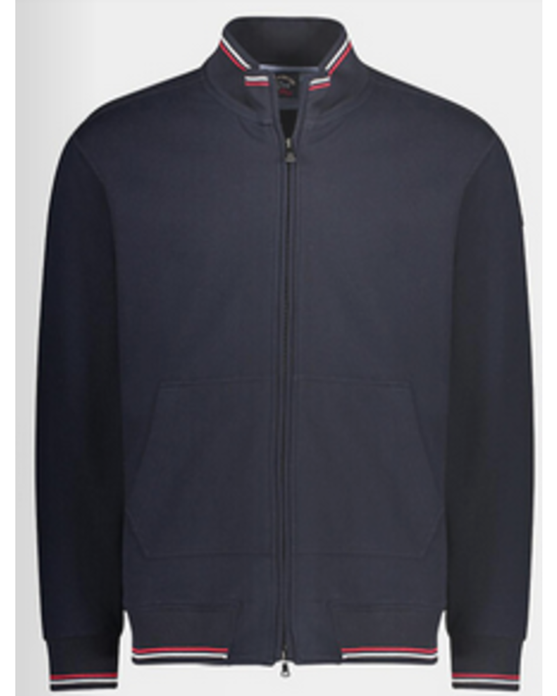 PAUL & SHARK Navy Watershed Full Zip Sweater