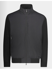 PAUL & SHARK Black Wool and Nylon Typhoon 20000 Sweater Jacket