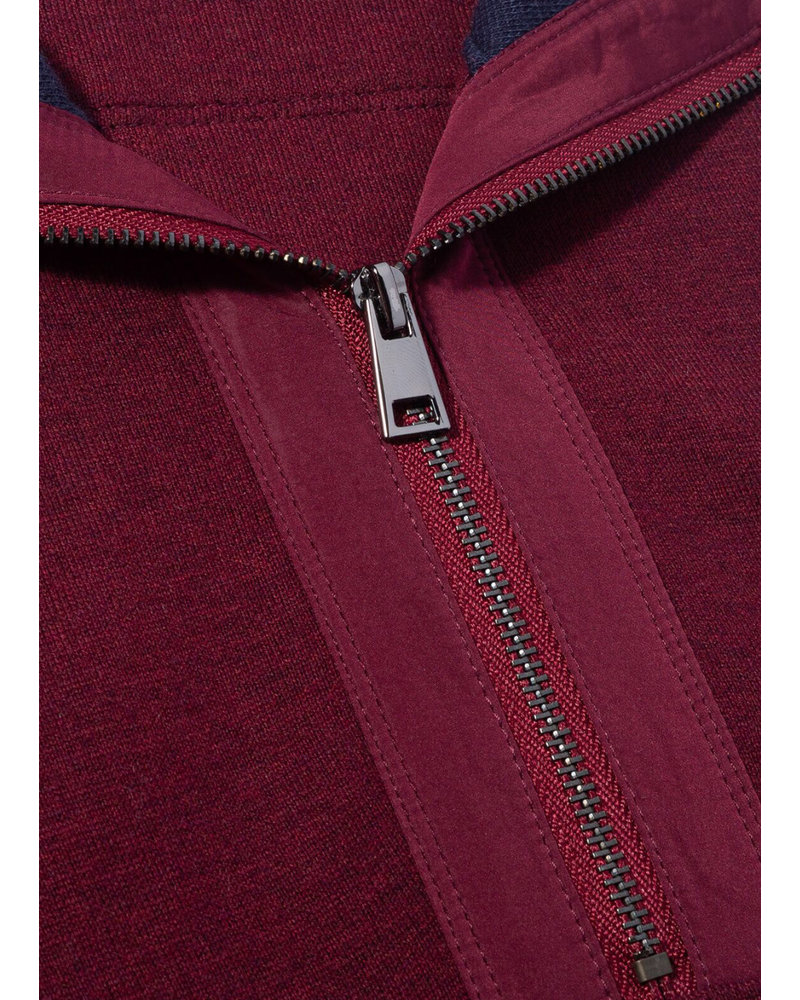BUGATCHI UOMO Cotton 1/4 Zip with Trim