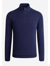 BUGATCHI UOMO Cotton Jersey 1/4 Zip