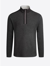 BUGATCHI UOMO Cotton Nylon Trim 1/4 Zip
