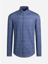 BUGATCHI UOMO Modern Fit Oooh Cotton Denim Blue Shirt
