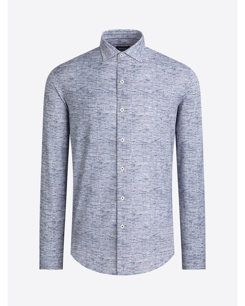 BUGATCHI UOMO Modern Fit Oooh Cotton Marbled Shirt