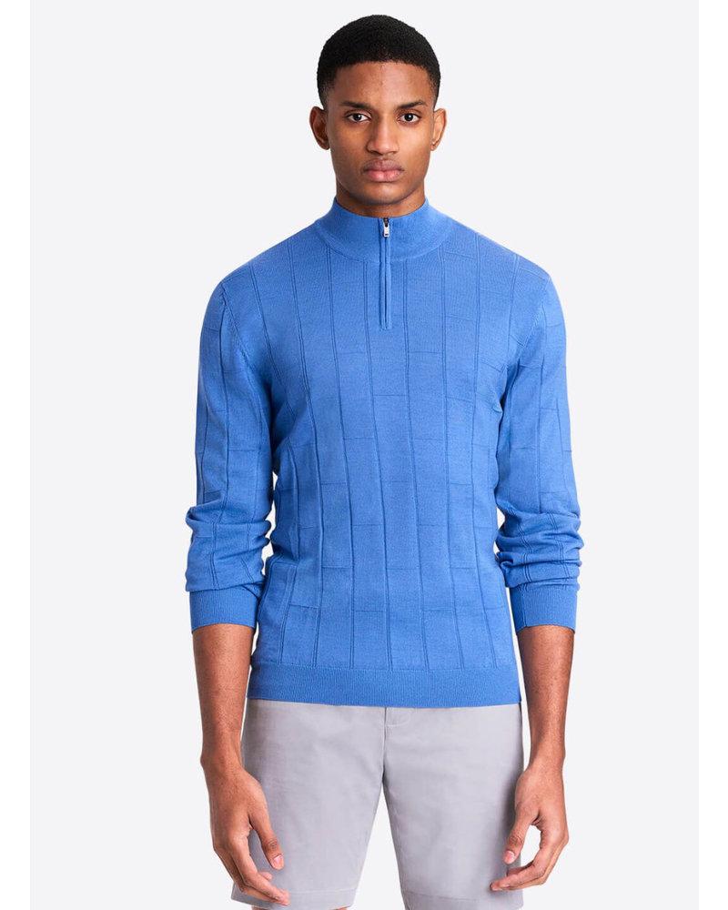 BUGATCHI UOMO Cobalt 1/4 Zip Sweater