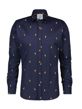 A FISH NAMED FRED Modern Fit Rocket Ice Shirt