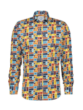 A FISH NAMED FRED Modern Fit Tickets Colour Shirt