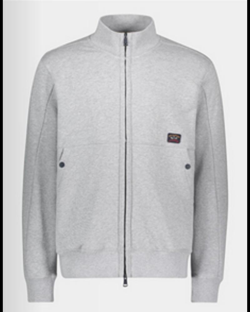 PAUL & SHARK Grey Watershed Full Zip Sweatshirt