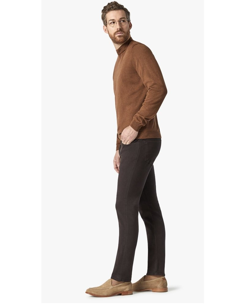 34 HERITAGE Slim Fit Chocolate Comfort 5 Pocket