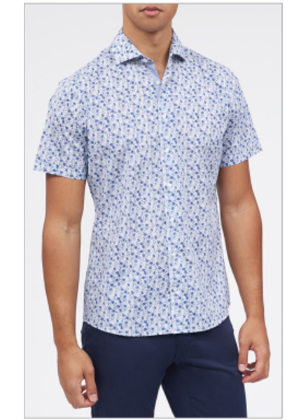 BRAX Modern Fit Navy Floral Pattern Shirt