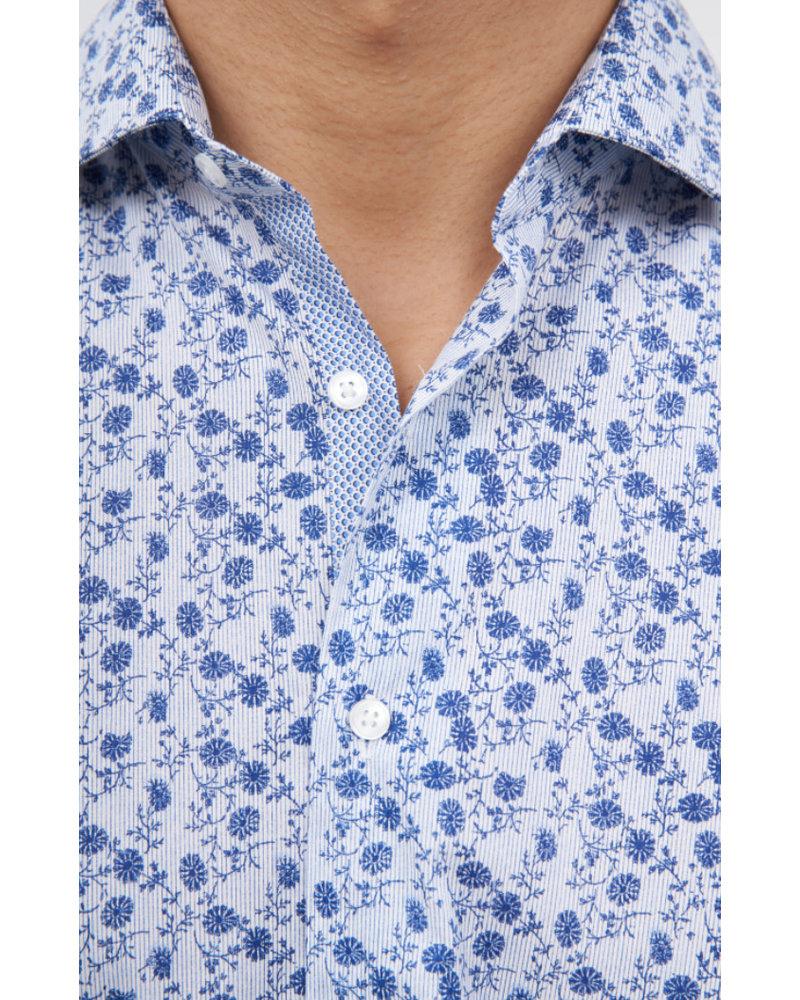 BRAX Modern Fit Navy Floral Pattern Shirt